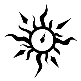 Sun compass tribal tattoo