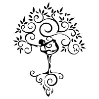 Yoga tree woman tattoo