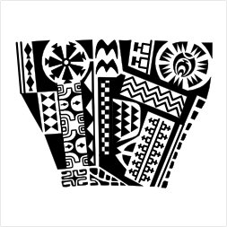 Marquesan legband tattoo flash