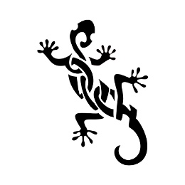 Gecko lettering tattoo flash